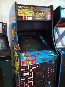 GALAGA MS. PAC-MAN Fully Restored, Original Video Arcade Game with Warranty