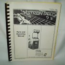 Astron Belt Arcade Game Manual Original