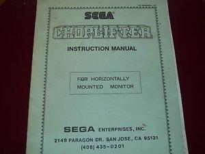 Choplifter Original Instruction Manual by Sega