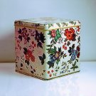 Vintage Collectable Decorative Tin ~ Flower Design ~ Beautiful ~ Made in England