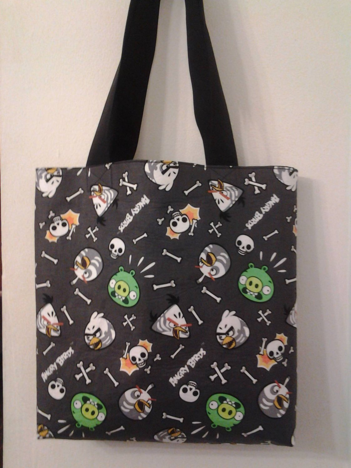 Angry Birds Gray Reversible Tote