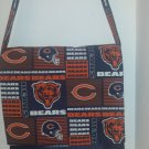 Chicago Bears Orange and Blue Cotton Print Messenger, Cross Body Bag