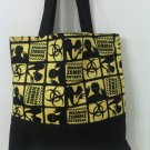 Zombie Outbreak Black and Yellow Tote