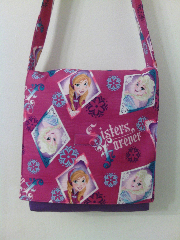 Frozen - Handmade Sisters Forever Toddler Size Messenger / Cross Body Bag