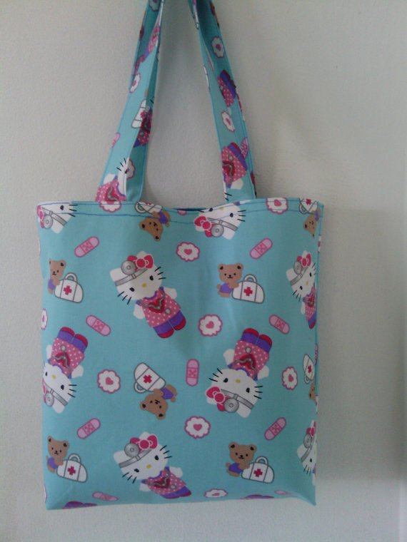 Hello Kitty Inspired Nurse / Doctor Small Tote for Girls