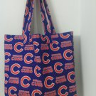 Large Chicago Cubs Inspired Handmade Tote