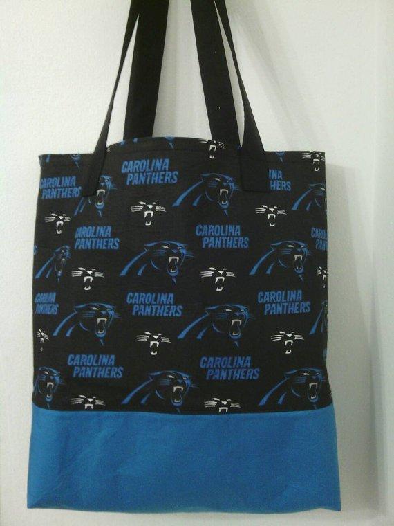 Carolina Panthers Inspired Handmade Tote