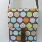 "Brown ""WHO the Messenger"" Owl Polka Dot, Hipster, Messenger / Cross Body Bag"
