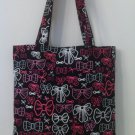 Pink and Black Bows, Child Size Tote for Girls