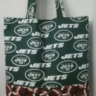 Large, New York Jets Inspired Tote W/ Footballs