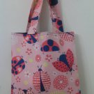 Pink Doodles, Child Size Dot To Dot  Ladybug Tote