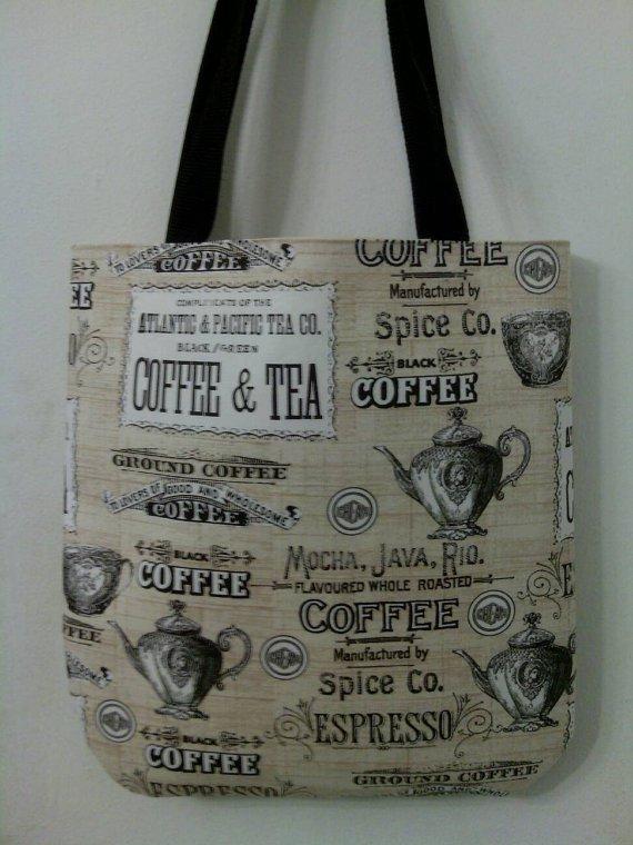 Coffee, Tea and Espresso Inspired Tote