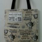 Coffee, Tea and Espresso Inspired Tote