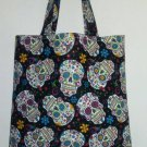 Sugar Skulls and Flowers Tote, Dia de Muertos, Day of The Dead Tote