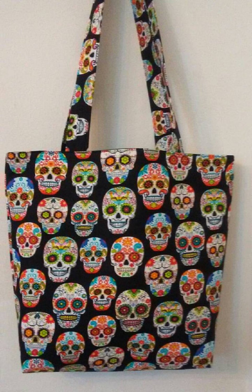Sugar Skulls, Dia de Muertos, Day of The Dead Tote