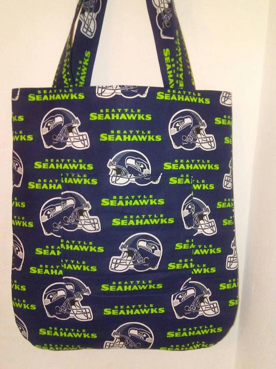 Seattle Seahawks Inspired Handmade Tote