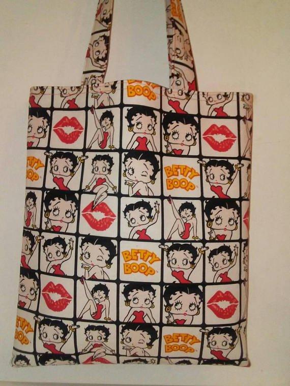 Betty Boop Inspired Handmade Tote