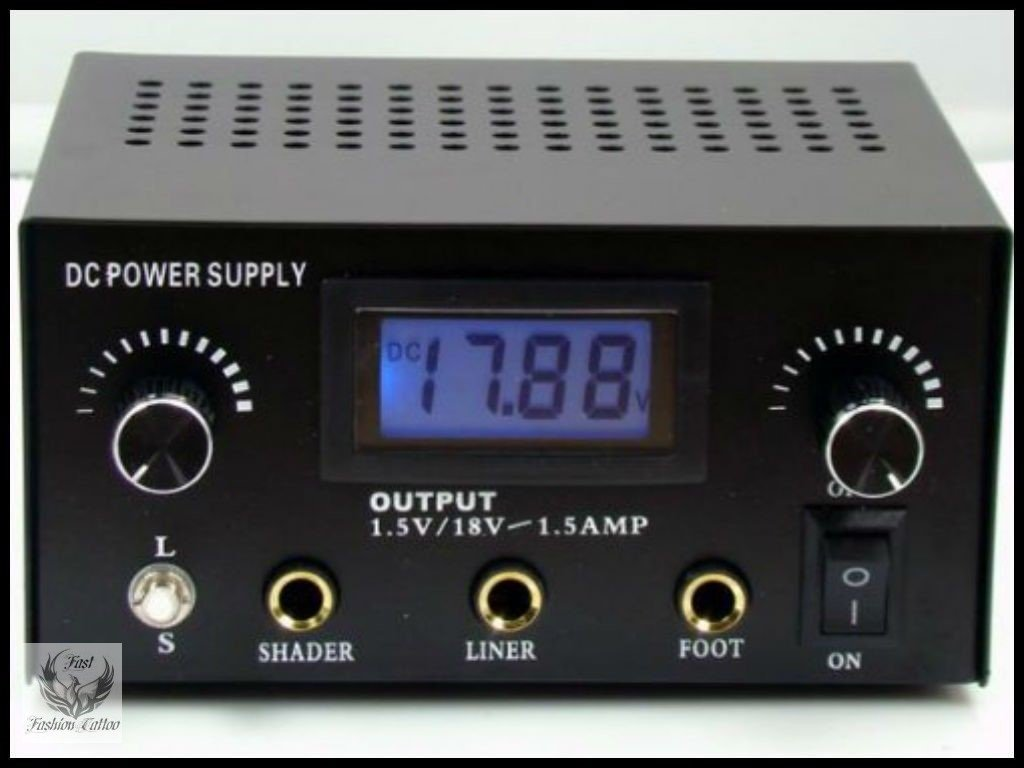Dual User Digital LCD Tattoo Power Supply Black