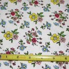 Henry Glass White Floral Cotton Quilting Sewing Craft Fabric~ 1 YD
