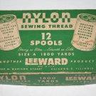 Vintage LEEWARD 12 Spool Nylon Sewing Thread Box Empty