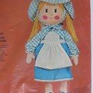 Vintage 23 inch Gingham Girl Toy Doll Kit Sultana Creative Needlecraft