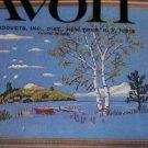 Vintage Avon Crewel Embroidery Kit 18 x 24 Landscape Picture