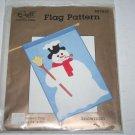 Snowman Flag Pattern 34 x 50 The Flag Works Fabri Crafts #07837