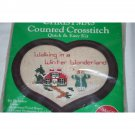 Christmas Counted Cross stitch Walking in a Winter Wonderland Kit