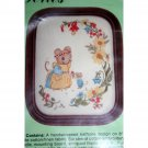 Adorable Mouse & Floral Embroidery Kit w Frame Cathy Heritage Series