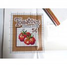 Tomatoes Garden Seeds Seed Packet Counted Cross stitch Kit 1980