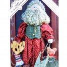 Yuley 15 inch Santa Stuffed Yuletide Christmas Pattern Folk Doll