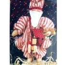 Saint Bundles 10 inch Santa Stuffed Tis the Season Christmas Pattern Folk Doll