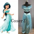 Princess Jasmine Dress Cosplay Costume Custom Made Any Size