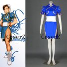 Chun Li Custom Cosplay Costume Blue Outfit from Street Fighter Costume