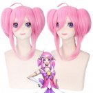 Star Guardian Lux Cosplay Wig The Lady Of Luminosity Double Ponytail Wig Halloween Pink Hair