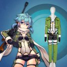 Sword Art Online Asada Shino Cosplay Costume