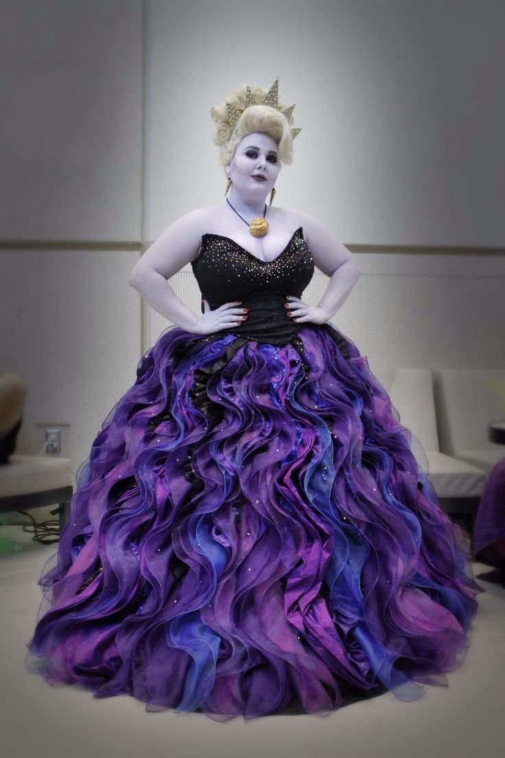 22cace353 Little Mermaid Ursula Costume, Plus Size Ursula Costume Cosplay Adult for  Women