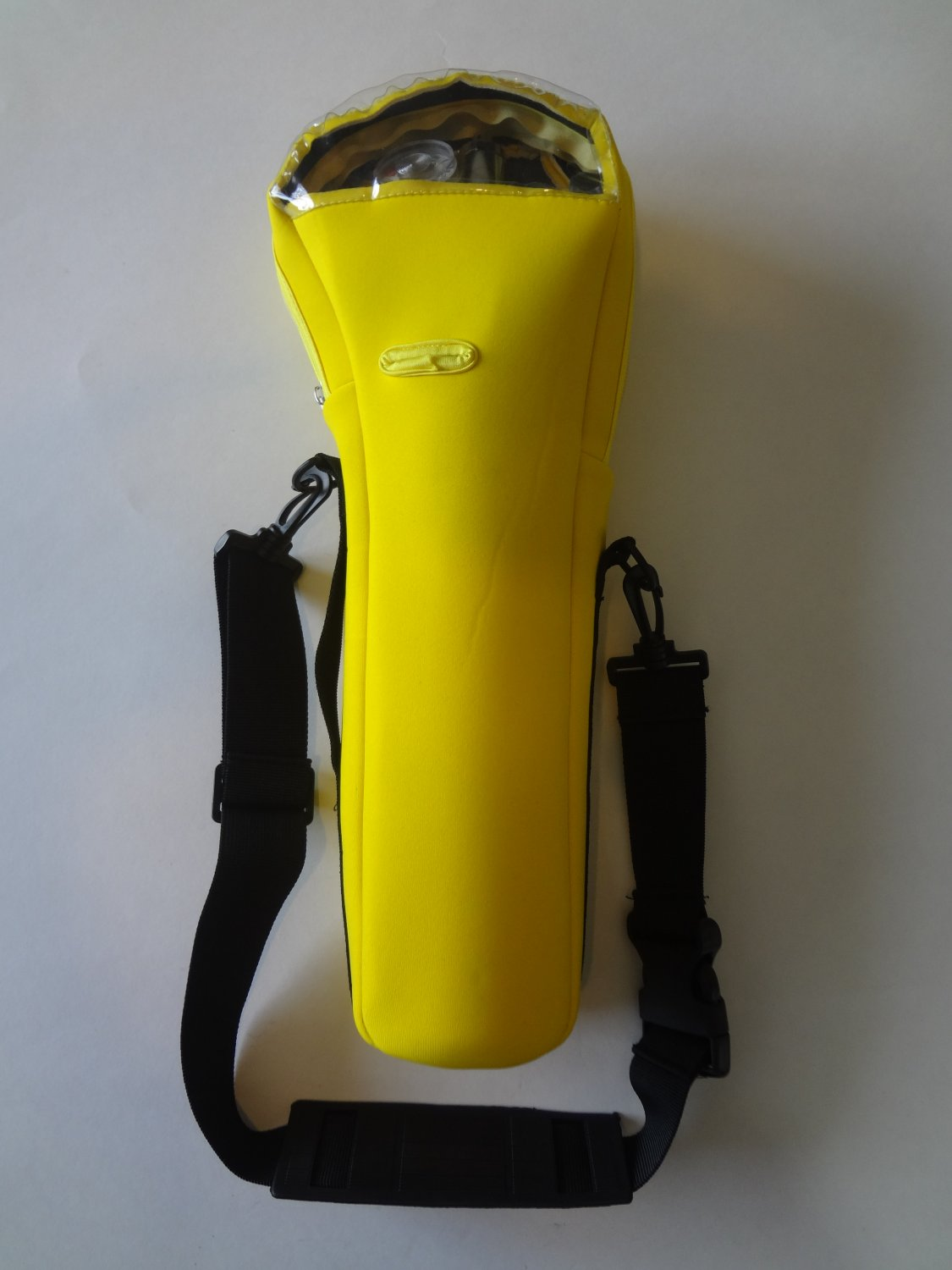 Yellow oxygen cylinder carrier for B or M-6 cylinders