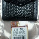 TRIPLE K LEATHER GLOVE POUCH #185 VELCRO CLOSURE BLACK BASKETWEAVE RETAIL $22.00