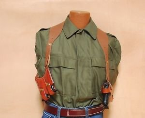 Triple K Leather Shoulder Holster S&W 39, 59, 909, 910 or 915 3 PC SET