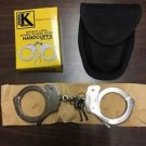 Mil- Spec Nickle Plated Steel Double Locking Police & Security Handcuffs & Case