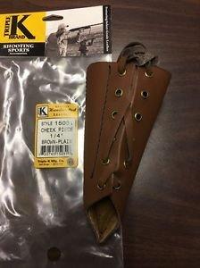 "Triple K #15031 1/4"" rise  Leather / Cheek Piece / Cheek Pad New in Bag"