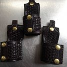 VINTAGE TRIPLE K #11 CORDOVAN BW Leather Belt Holder for D-Cell Flashlight