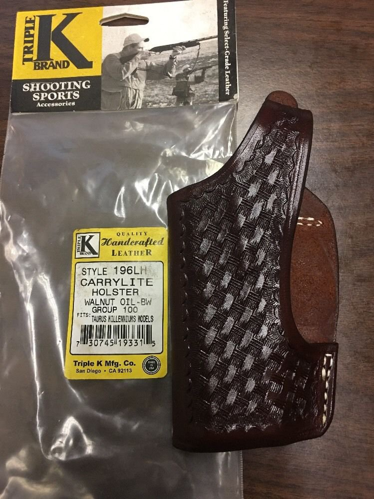 TRIPLE K #196 *LH* CARRYLIGHT HOLSTER TAURUS MILLENNIUMS WO BW  NEW IN PACKAGE