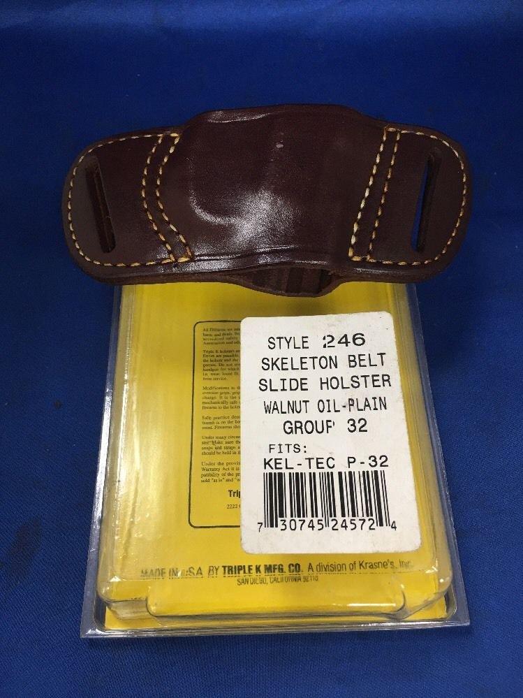 Triple K #246 Belt Slide Holster for KEL-TEC P-32
