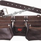 SIR-G, 11 Pocket Oil Tanned Leather Tool Bag Belt / Tool Rig Apron