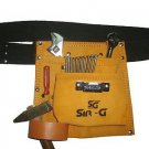 5 Pocket Suede Leather Yellow Tool Bag Pouch Belt