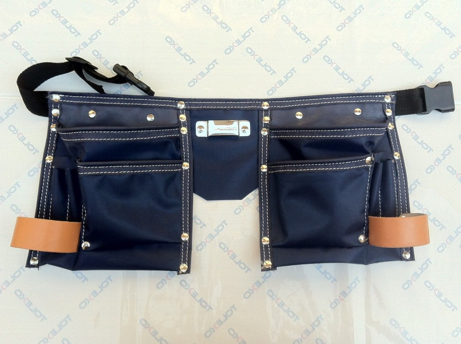 10 Pocket Heavy Duty Neavy Blue Coth Kids Tool Pouch Bag Belt