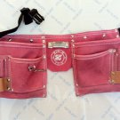 10 Pocket Suede Pink Leather Kids Tool Pouch Bag Belt