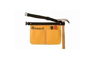yellow Leather tool Nail Pouch Bag Belt
